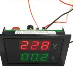 Voltmetru si ampermetru digital AC 80 - 300V 0-200A + Shunt Dual LCD