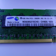 Modul RDIMM DDR3 4GB PC3-10600R Samsung Server RAM HP 591750-171 - Memorie server Samsung, 1333 mhz