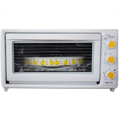 Cuptor electric cu termostat pentru prajituri si placinte Harlem® LUXELL Master Of Baking, Cu VENTILATOR, Functie Convectie, 1650W, 45L, Tava Inclusa