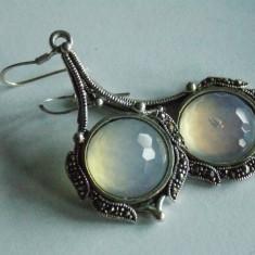 Cercei argint vintage cu marcasite -2329 - Bijuterie veche
