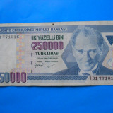 HOPCT  TURCIA 250000  LIRASI 1998  - X  FINE  - FRUMOASA