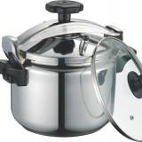 Oală pentru gătit sub presiune din inox, DeKassa, 7 litri, fund 3 straturi - Oala sub presiune