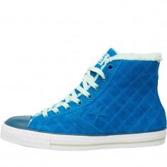 Adidasi Converse Star Player Hi Fur Collar Trainers  marimea 42, Albastru, Piele intoarsa