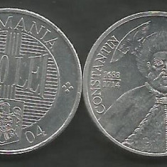 ROMANIA   1000  1.000  LEI  2004   [01]  a UNC  Luciu  ,    livrare in cartonas, Aluminiu