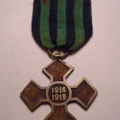 Crucea Comemorativa a Primului Razboi Mondial 1916 1919 RARA - Ordin