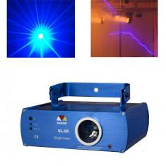 LICHIDARE STOC!LASER PROFESIONAL ALBASTRU/MOV DE PUTERE MARE 120MW, SENZOR SUNET. - Laser lumini club