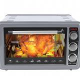 Cuptor electric cu termostat Harlem® LOT's, 1500W, capacitate 38L, Tavi Incluse, Gri