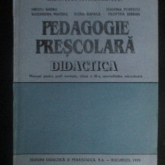 Pedagogie prescolara didactica