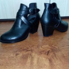 Botine bata - Botine dama Bata, Culoare: Negru, Marime: 35