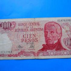 HOPCT ARGENTINA 100 PESOS 1971-73 - bancnota america