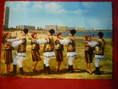 Ilustrata- Dansuri Populare Romanesti din N.Moldovei - la malul marii -Mamaia foto