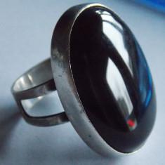 Inel argint cu onix masiv--- Vintage