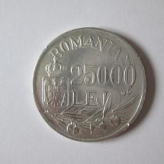 Romania 25000 Lei 1946 argint stare foarte buna, Diametrul=32 mm/greutate=13grame, Europa