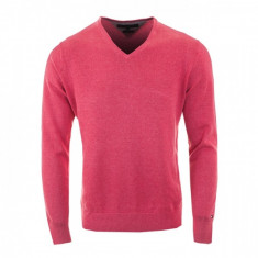 Pulover TOMMY HILFIGER denim V-Neck sweater, XXL - Pulover barbati Tommy Hilfiger, Culoare: Din imagine, Anchior, Bumbac