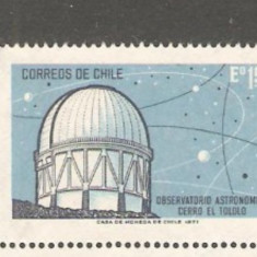 Chile 1971- OBSERVATOR ASTRONOMIC, timbru nestampilat R91 - Timbre straine