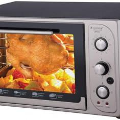 Cuptor electric cu termostat Harlem® MAXI HMF4, ROTISOR, 1500W, 45L, Tavi Incluse