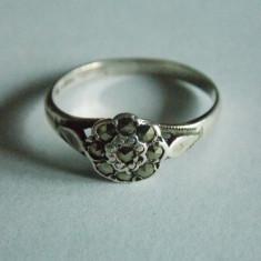 Inel argint cu marcasite -2307