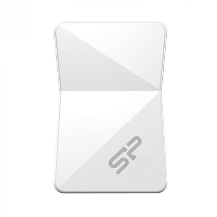 Memorie USB Silicon-Power Touch T08 8GB USB 2.0 White foto mare