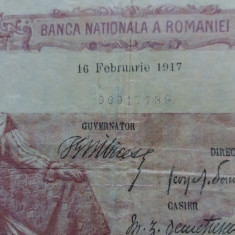 Bancnote romanesti 100lei fagure 1917 rara - Bancnota romaneasca