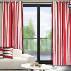 Set de 2 draperii Heinner din bumbac 100%, model dungi roz, HR-DR140-RED01 - Perdea
