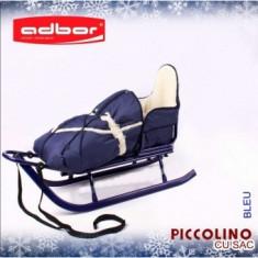 Saniuta copii Adbor Piccolino cu saculet de iarna - Sanie