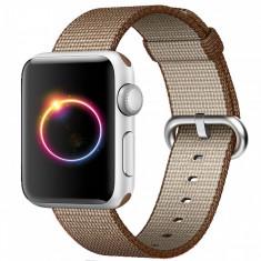 Curea pentru Apple Watch 38 mm iUni Woven Strap, Nylon, Brown - Curea ceas cauciuc