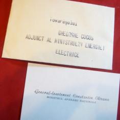 Carte de Vizita a Gen. Lt. C.Olteanu ,Ministrul Apararii Nationale , Felicitare