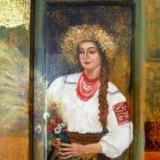 TABLOU-Panou decorativ- SANZIENE, Portrete, Acrilic, Altul