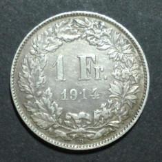 Elvetia 1 franc 1914 Argint r, Europa