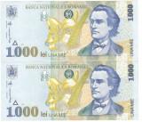 1000 lei 1998 serii consecutive UNC
