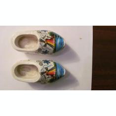 PVM - Mini pereche saboti lemn pictat aricol fabricat in Olanda