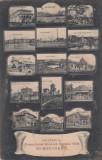 SALUTARI  DIN  EXPOZITIA  GENERALA  ROMANA  1906 BUCURESTI CIRCULATA 1906