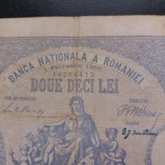 Bancnote romanesti 20lei 1februarie 1907 - Bancnota romaneasca