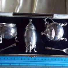 Set argint pentru cafea/ceai vintage, Set ceai