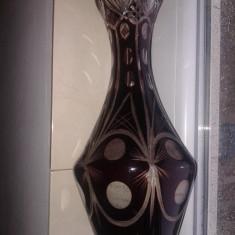 CRISTAL ROSU VECHI MARE - Vaza sticla