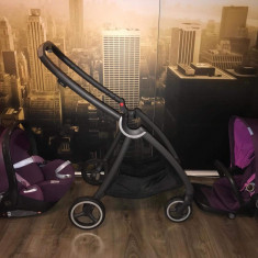 Carucior modular gb Maris Posh Pink +Scaunul auto pentru copii Cloud Q - Carucior copii 2 in 1, Violet