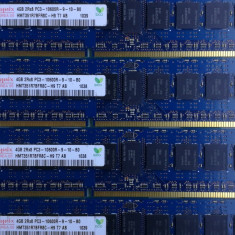Lot 4 Module DDR3 4GB 2Rx8 PC3-10600R RAM Server Memory Hynix - Memorie server, 1333 mhz
