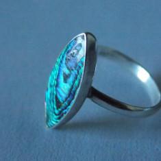 Inel argint cu scoica abalon -2323