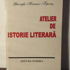 ATELIER DE ISTORIE LITERARA -GHEORGHE HRIMINIUC -TOPORAS - Eseu