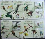 INS.COMORE - PASARI INSECTIVORE, 2009, 5 S/SH D LUX, NEOB. - ICO 33, Fauna