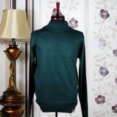 Pulover pe gat , barbati , verde , Ucu Dima, Cod: 9005 verde (Culoare: Verde, Marime Pulover: M)