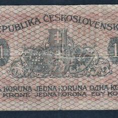 Cehoslovacia 1 Koruna 1919 P#6 - bancnota europa