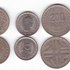 Lot monede Columbia, 6 diferite
