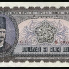 Y260 ROMANIA 25 LEI 1952 serie rosie UNC NECIRCULATA - Bancnota romaneasca
