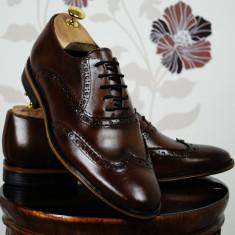 Pantofi barbati , maro , piele naturala , Ucu Dima, Cod: Pantofi B.106 Maro (Culoare: Maro, Marime Incaltaminte: 40)