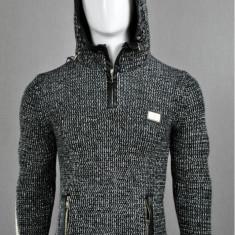 Pulover barbati black-ecru, Cod:5135 black-ecru (Culoare: Negru, Marime Vestimentatie: XL)