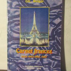 CARNET FRANCEZ-GH.BULGAR (CU DEDICATIE SI AUTOGRAF) - Eseu