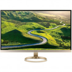 Monitor Acer H277HUKMIPUZ 27 inch 4 ms Gold - Monitor LED Acer, HDMI, 2560 x 1440
