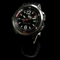 Ceas HAMILTON H775550 (0117) - Ceas barbatesc Hamilton, Sport, Mecanic-Automatic, Inox, Silicon, Fusuri orare multiple