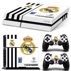 Skin / Sticker Real Madrid Playstation 4 PS4 FAT / SLIM, Huse si skin-uri